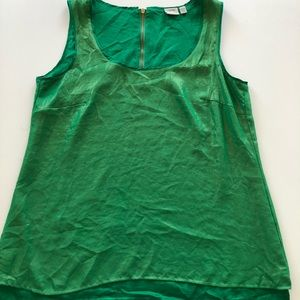 Esprit Green With gold dust chiffon sleeveless top